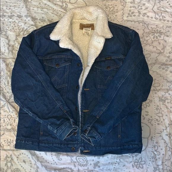 Wrangler Other - Wrangler Sherpa Denim Jean Jacket Size L